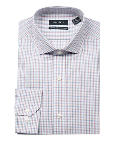 Nautica Multi-Check Dress Shirt-MULTI-17-32/33