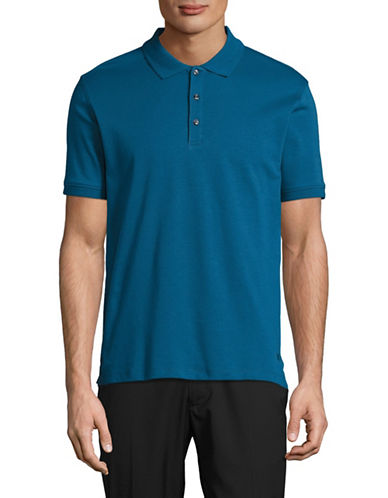 Black Brown 1826 Solid Egyptian Cotton Polo-GREEN-Large