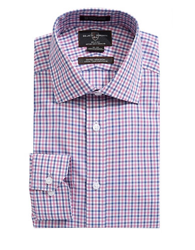 Black Brown 1826 Fitted Check Dress Shirt-ROSE-16-34