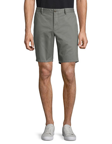 Black Brown 1826 Cotton Twill Shorts-GREY-40