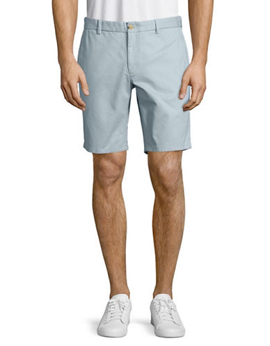 Black Brown 1826 Cotton Twill Shorts-LIGHT BLUE-40