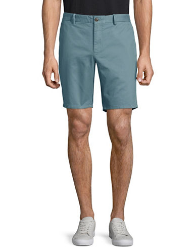 Black Brown 1826 Cotton Twill Shorts-GREEN-33