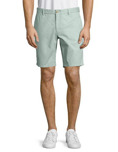 Black Brown 1826 Cotton Twill Shorts-TURQUOISE-30