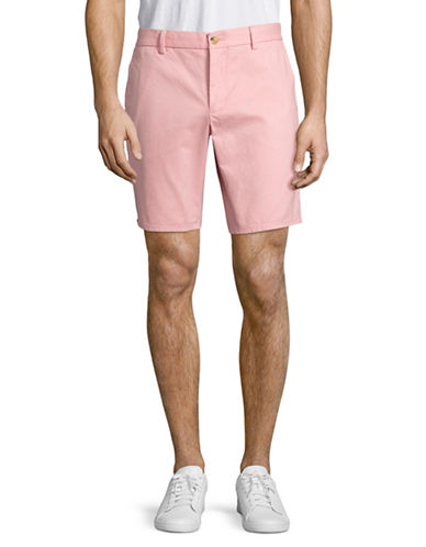 Black Brown 1826 Cotton Twill Shorts-PINK-34