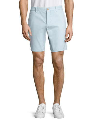 Black Brown 1826 Cotton Twill Shorts-SKY BLUE-38