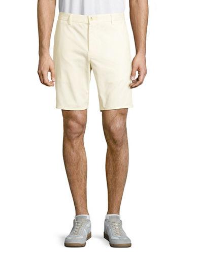 Black Brown 1826 Cotton Twill Shorts-BONE WHITE-40