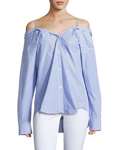 Theory Tamalee Dalton Stripe Shirt-BLUE-Large
