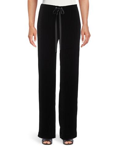Theory Winszlee Velvet Silk-Blend Pants-BLACK-X-Small 88816227_BLACK_X-Small