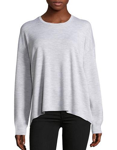 Theory Twylina Twist Merino Wool Sweater-GREY-Medium