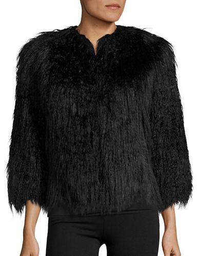 Theory Faux Fur Open Jacket-BLACK-Medium 88816281_BLACK_Medium