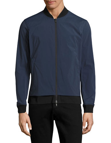 Theory Articulated Bomber Jacket-BLUE-X-Large 89211324_BLUE_X-Large