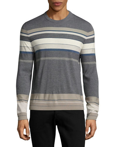 Theory Striped Wool Pullover-GREY-Small 88851716_GREY_Small