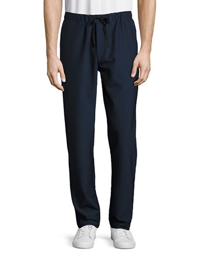 Theory Lumo Drawstring Seersucker Pants-BLUE-Small 88851701_BLUE_Small