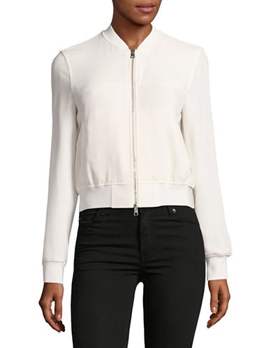 Theory Daryette Crepe Bomber Jacket-WHITE-Small 89119544_WHITE_Small