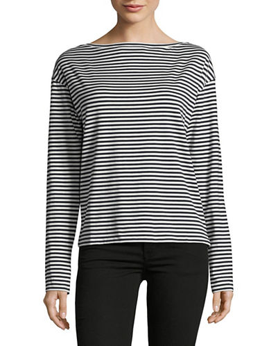 Theory Everyday Striped Top-BLUE-X-Small 89119598_BLUE_X-Small
