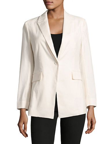Theory Etiennette Stretch Linen-Blend Blazer-WHITE-2