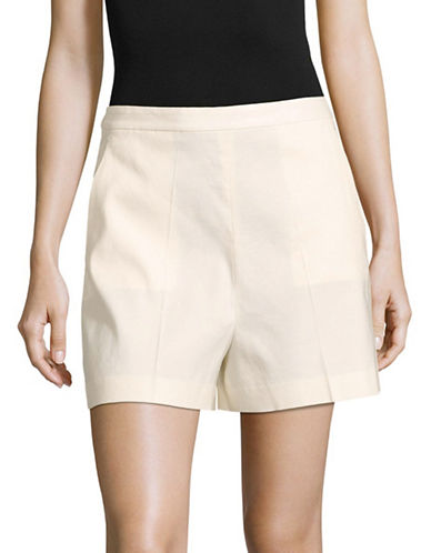 Theory Tarrytown Linen-Blend Shorts-WHITE-10
