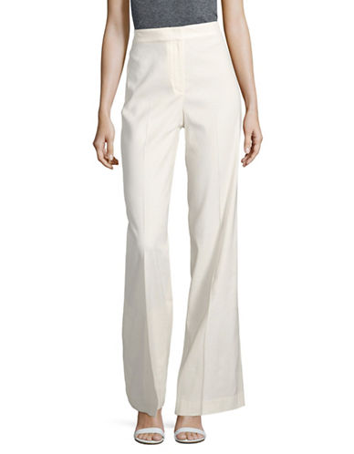 Theory Terena Stretch Linen Pants-WHITE-00