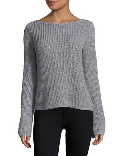 Theory Linen-Cotton Keyhole Pullover-LIGHT BLUE-Medium