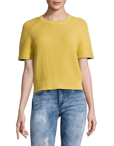 Theory Mayalee Sweater Tee-YELLOW-Medium