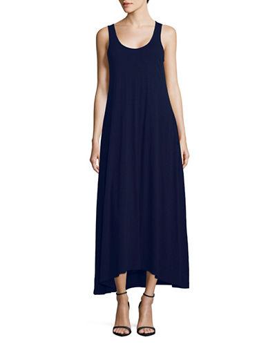 Theory Laurem Slub-Knit Maxi Dress-BLUE-Small
