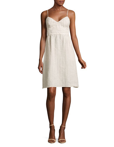 Theory Melaena B Strappy Linen Empire Dress-WHITE/BLUE-12