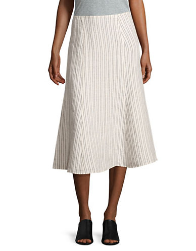 Theory Striped Linen Skirt-WHITE-10