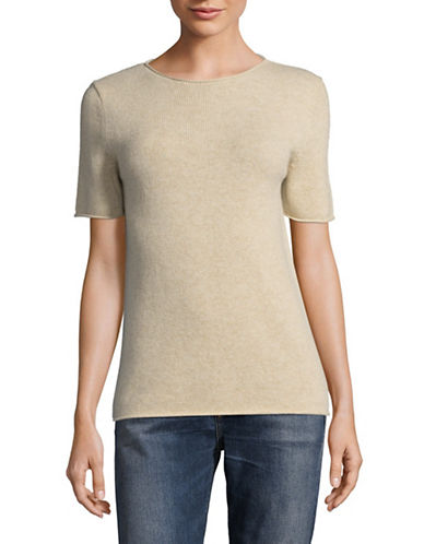 Theory Tolleree Cashmere Sweater Tee-LIGHT HEAT-Small