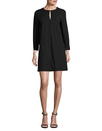 Theory Jullitah Poplin Dress-BLACK-4