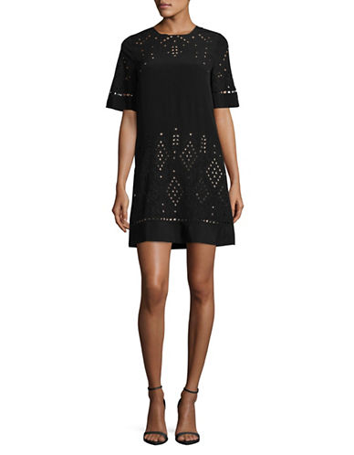 Theory Idetteah Ghost Crepe Dress-BLACK-4