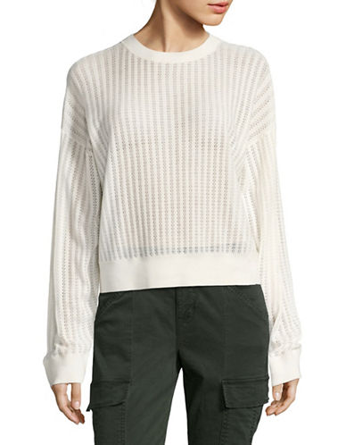 Theory Verlina B Open-Stitch Merino Wool Sweater-IVORY-Large