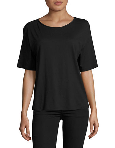 Theory Plume Jersey T-Shirt-BLACK-X-Small