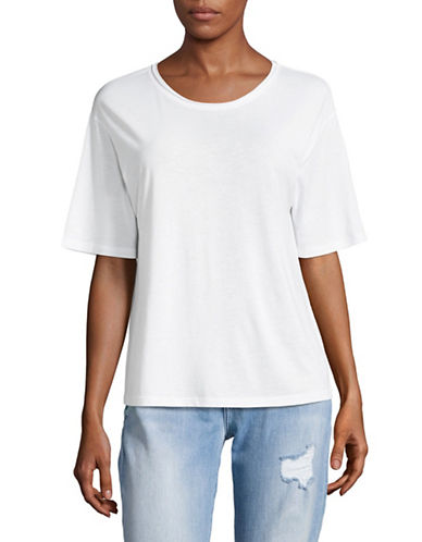 Theory Plume Jersey T-Shirt-WHITE-Medium