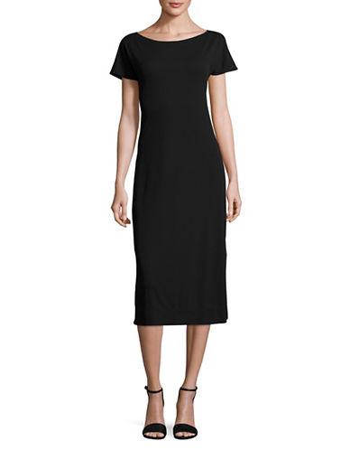 Theory Andrizza Twist Back Maxi Dress-BLACK-Small