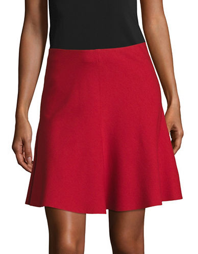 Theory Ponte A-Line Skirt-RED-Large