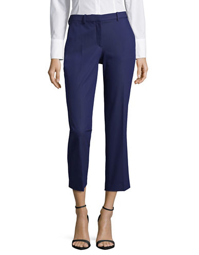 Theory Hartsdale Cropped Trousers-BLUE-2
