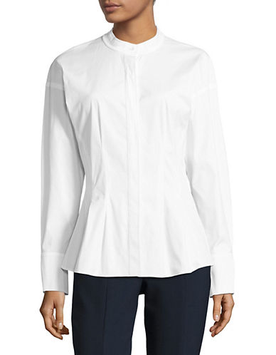 Theory Stretch Cotton Shirt-WHITE-Large