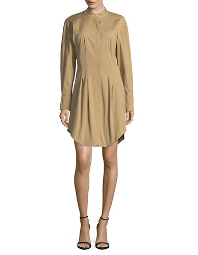 Theory Narthus B Shirt Dress-COPPER-Large