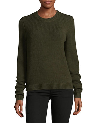 Theory Yulia Merino Wool Sweater-GREEN-Medium