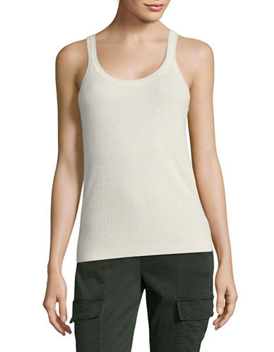 Theory Cashmere Tank-IVORY-Medium