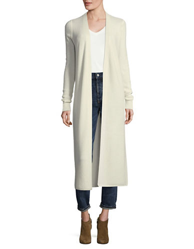 Theory Longline Cashmere Cardigan-IVORY-Medium