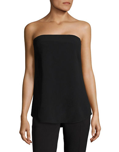 Theory Zalballa Rosina Crepe Top-BLACK-10