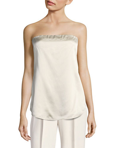 Theory Zalballa Vintage Silk Satin Top-WHITE-10