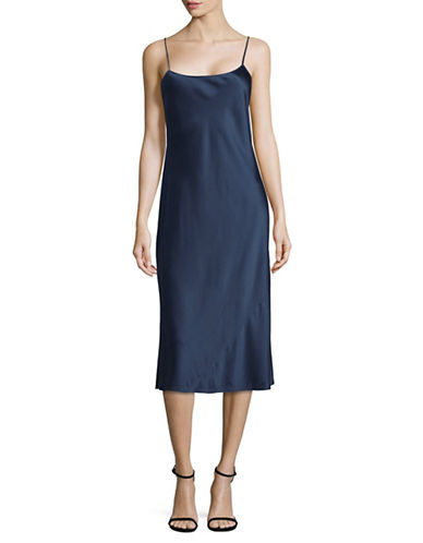Theory Telson Silk Satin Slip Dress-BLUE-6