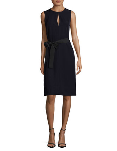 Theory Caitriona Twill Dress-BLUE-2