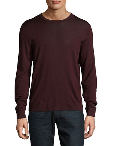 Theory Riland New Sovereign Merino Wool Sweater-RED-Small