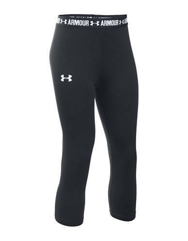Under Armour HeatGear Armour Capris-BLACK-6-6X