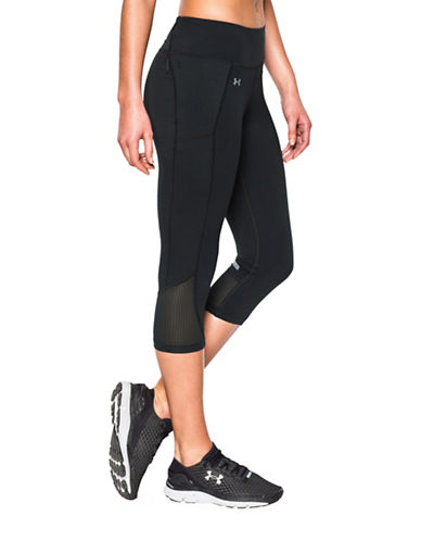 Under Armour Fly By Capris-BLACK-Medium 88485482_BLACK_Medium