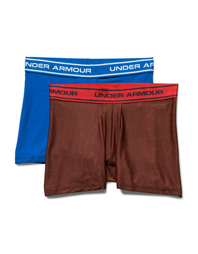 Under Armour Two-Pack Boxerjock Set-RED/BLUE-Large