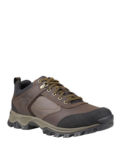 Timberland Mt. Maddsen Low-Cut Leather Hiking Shoes-BROWN-7.5
